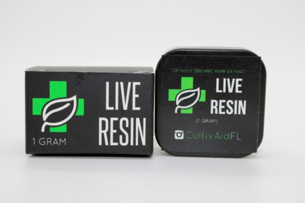 Cultivaid Live Resin box next to container