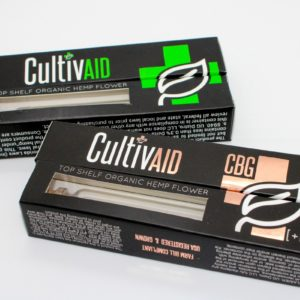 Cultivaid CBD and CBG Pre-Roll Boxes