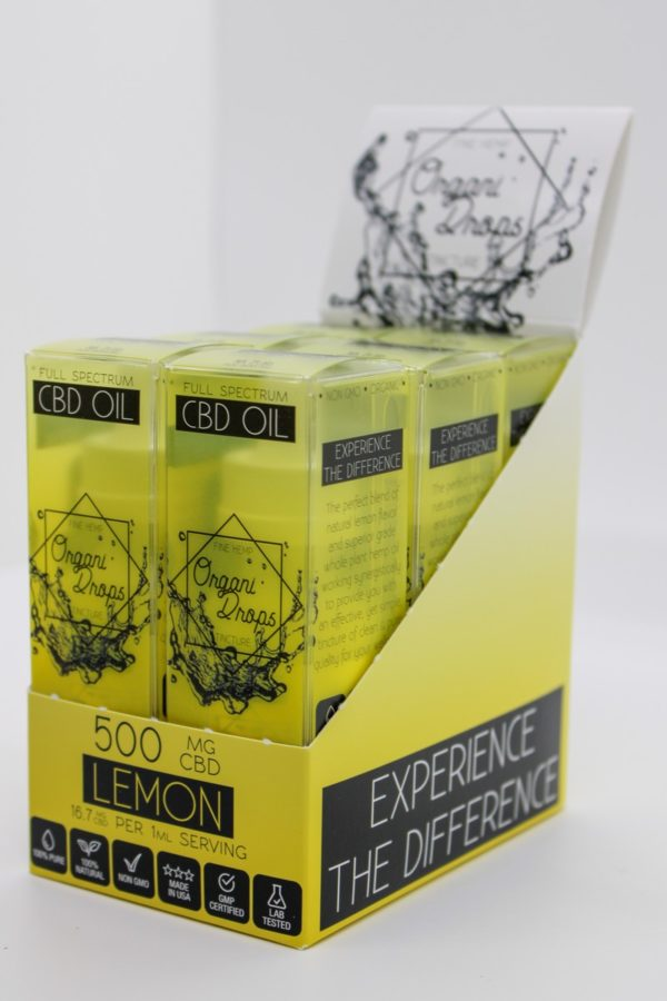 OrganiDrops Lemon 6-pack 500mg