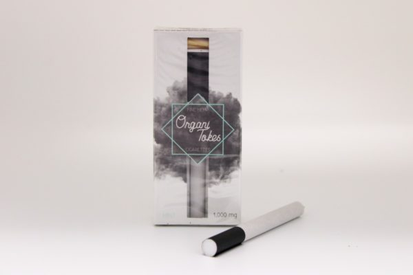OrganiTokes Mint package with cigarette