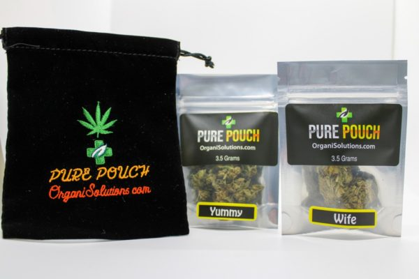 Pure Pouch Hemp Flower 2 Flavors - Wife and Yummy with fabric pouch