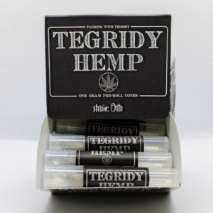 Open Box of Tegridy Hemp Pre-Roll Cones - front view