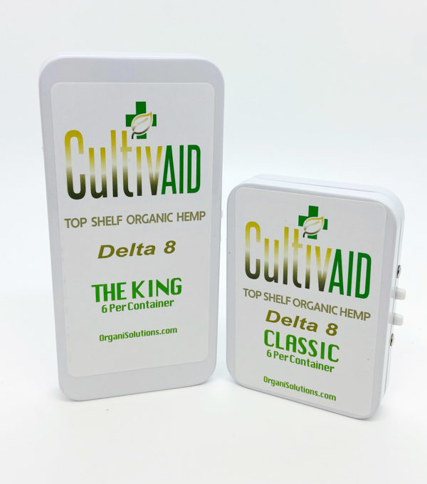 Cultivaid D8 Pre-Roll Tin - Classic and The King sizes