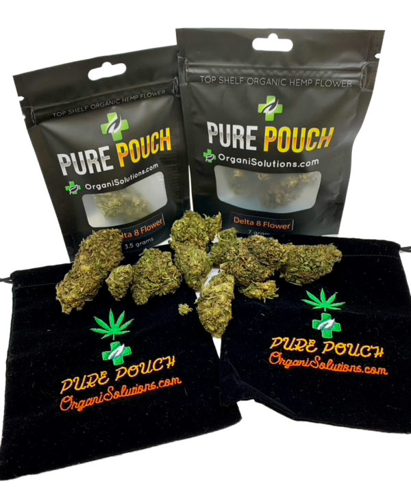 Pure Pouch D8 Flower with mylar bags